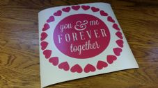 Valentines Box Frame Decal - You And Me Forever Together